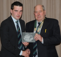 Past President John O Hara accepted on the night  by Kieran Flately